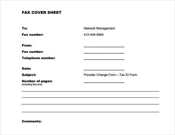 Sample Confidential Fax Cover Sheet Template - 7+ Free Documents ...