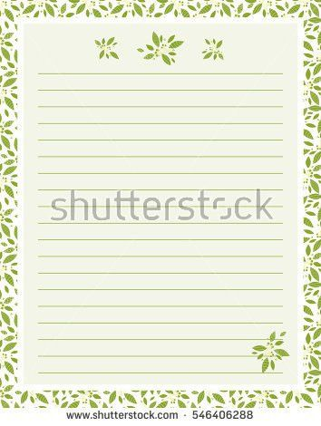 Vector Printing Paper Note Cute Paper Stock Vector 544274965 ...