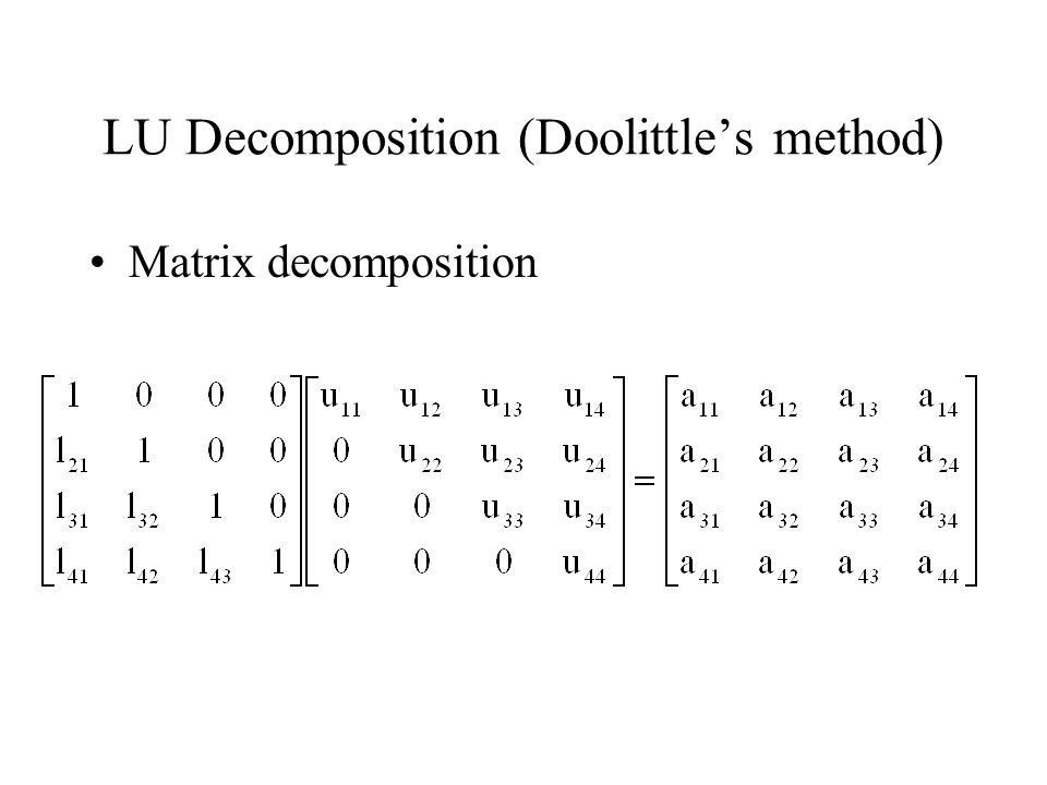 Lecture 11 - LU Decomposition - ppt video online download