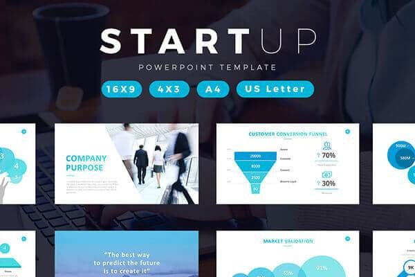 powerpoint template startup pitch startup pitch decks free ...