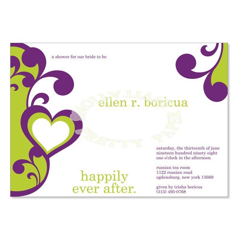 Purple & Green Bridal Shower Invitation Templates - Elena Grape Do ...