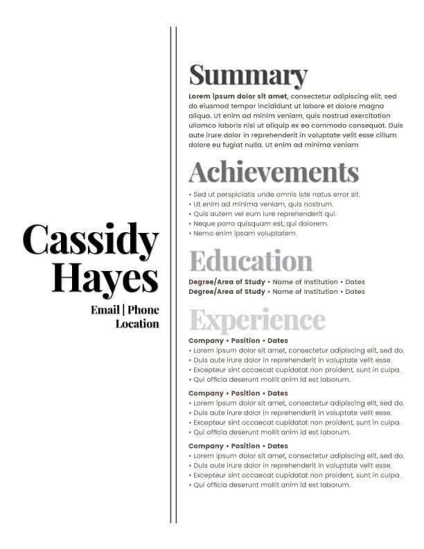 Kickass Resume Templates | Badass Resume Company