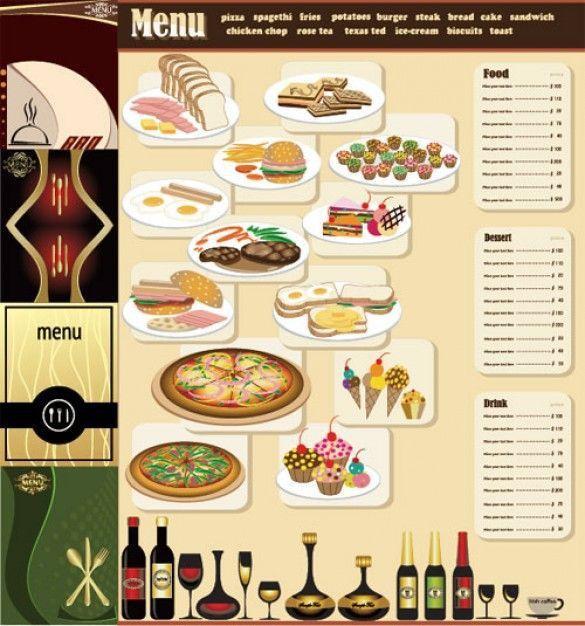 free table top restaurant menu templates breakfast menu ...