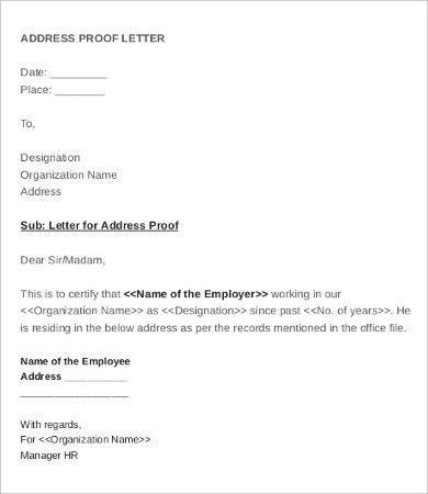 Sample employee verification letter