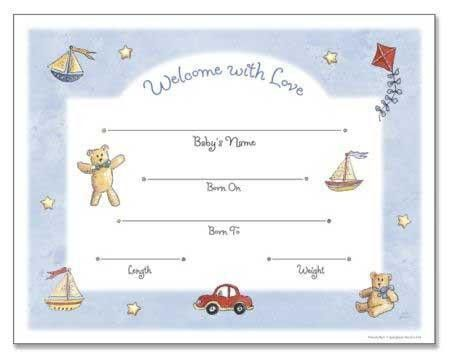 Baby Boy Birth Certificate – Fun Stuff for Genealogists, Inc.