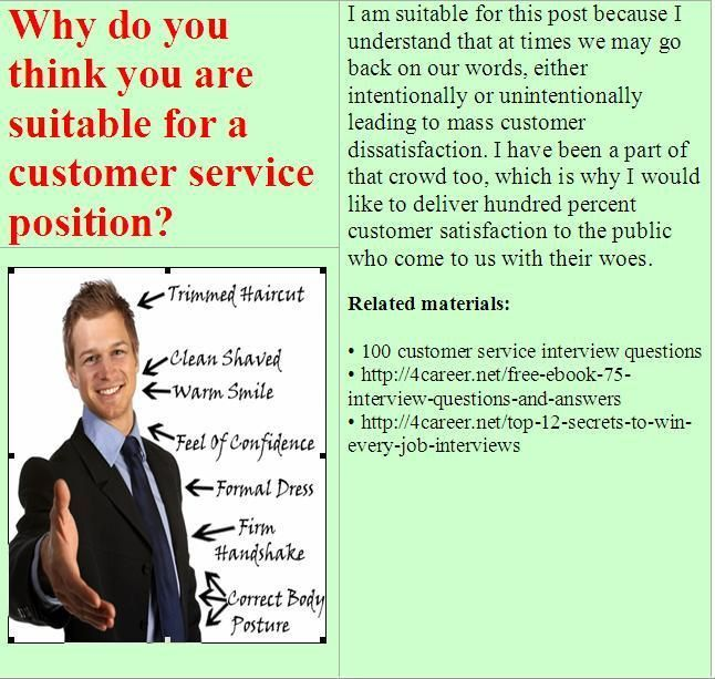 15 best Customer service job interview questions images on ...