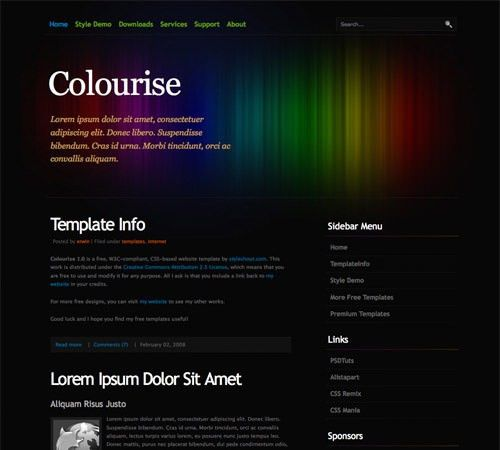60 High Quality Free Web Templates and Layouts - Hongkiat