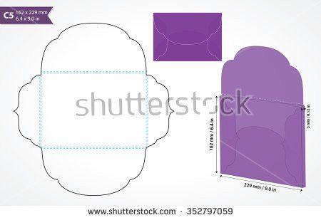 Die Cut C5 Vector Envelope Template Stock Vector 352797059 ...