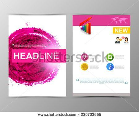 Business Poster Flyer Template Paint Abstract Stock Vector ...