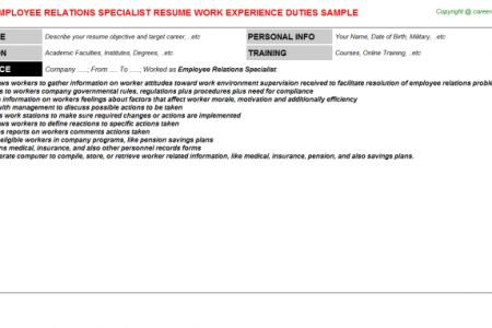 employee relations manager resume Employee Relation Manager Resume ...