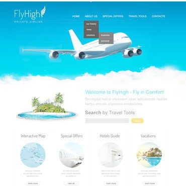 Airlines Website Templates