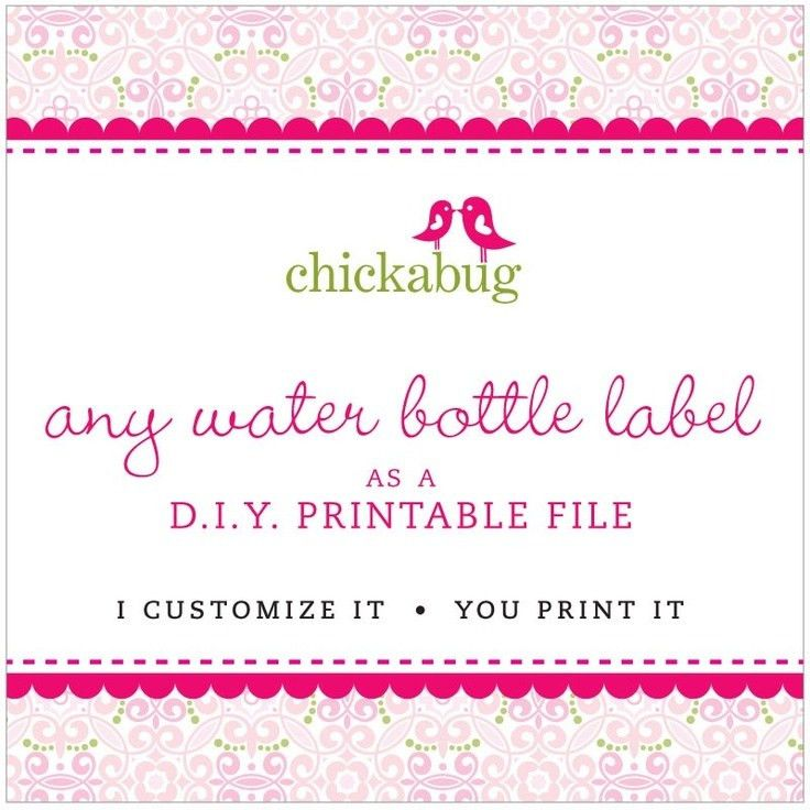88 best Water bottle labels images on Pinterest | Water bottle ...