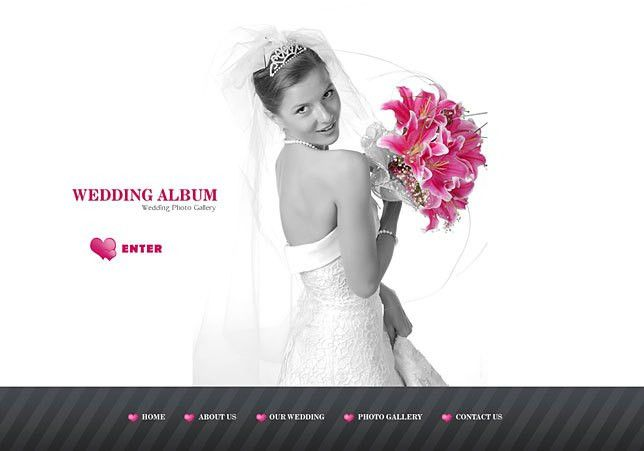 Full flash web templates for wedding websites
