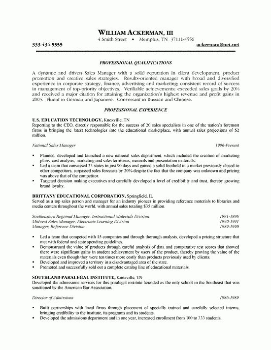 Telemarketing sales representative resume