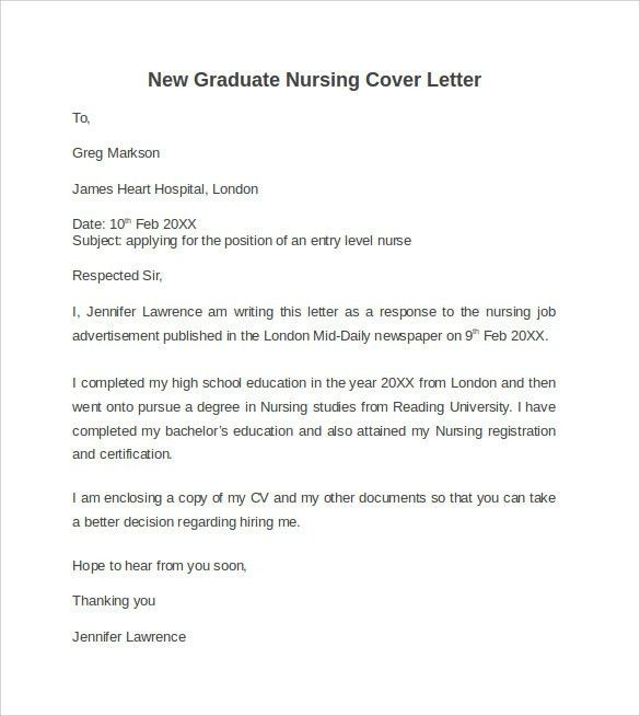 for nurse cover letter new grad file name graduate nurse cover ...