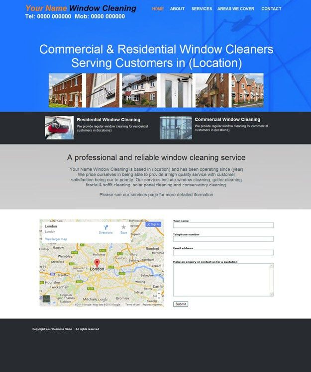 Budget Window Cleaning websites | Studio Arts Web Design
