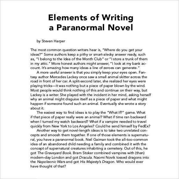 12+ Book Writing Templates – Free Sample, Example Format Download ...