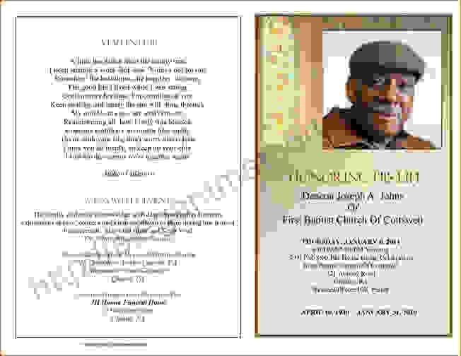 6 Funeral Programs ExamplesAgenda Template Sample | Agenda ...