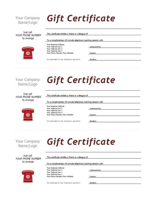 Complimentary Session Vouchers TEMPLATE | Coaching Tools from The ...
