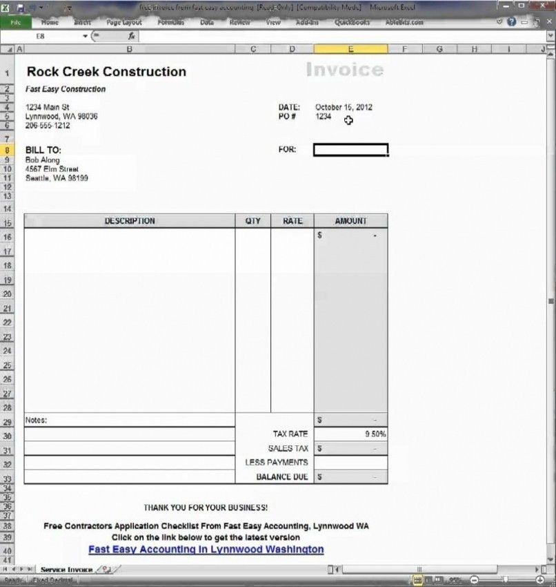 Download Invoice Template Google Doc | rabitah.net