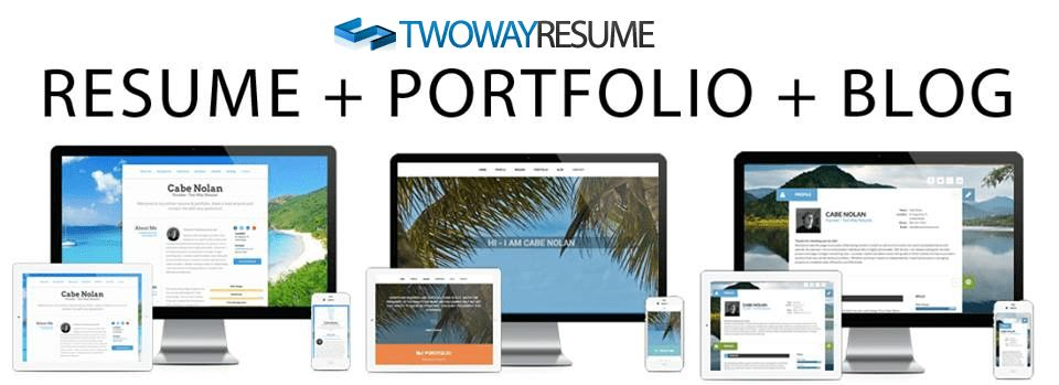 Two Way Resume: Turnkey Resume and Portfolio Website Builder ...