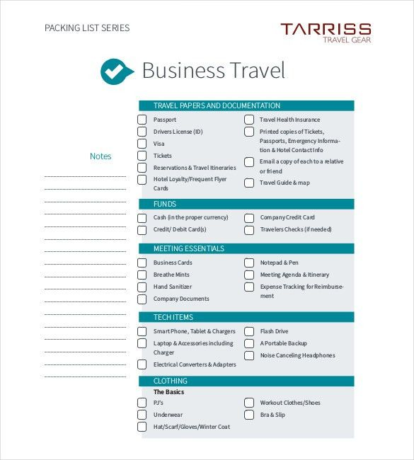 sample travel itinerary