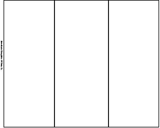 Blank Brochure Template Word : Selimtd