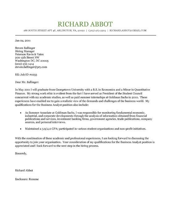 cover letter example 2. free simple cover letter example. basics ...