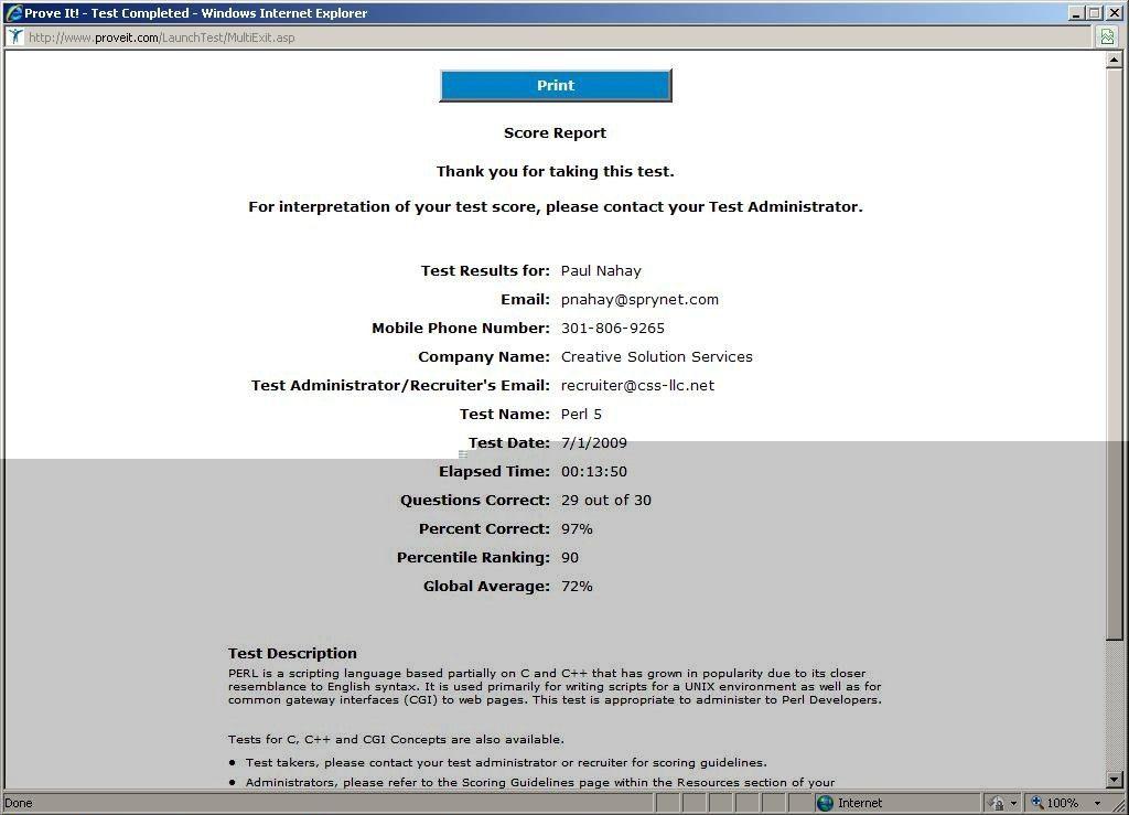 Paul Nahay's Resume