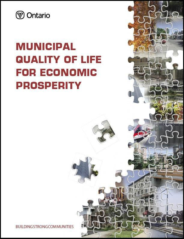 Municipal Quality of Life for Economic Prosperity cover page ...
