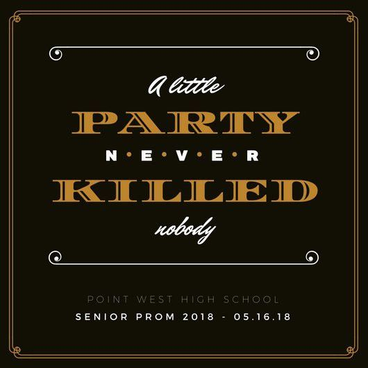 Senior Prom Save the Date Invitation - Templates by Canva