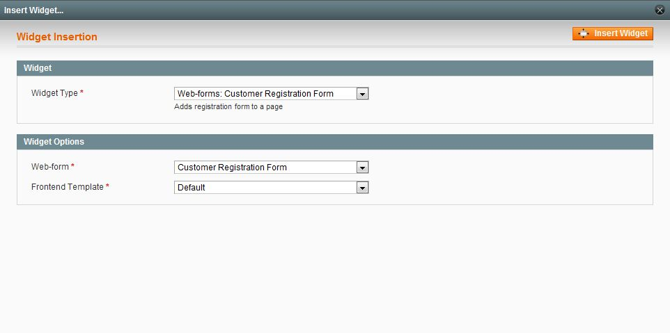 Magento customer registration form extension