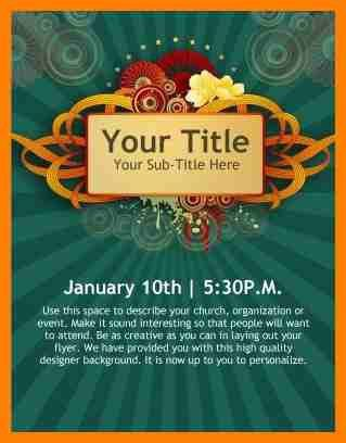 9+ free event flyer templates word | cv sample format