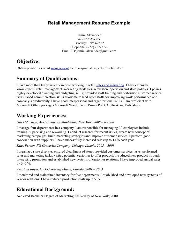 64 best Resume images on Pinterest | Sample resume, Resume ...