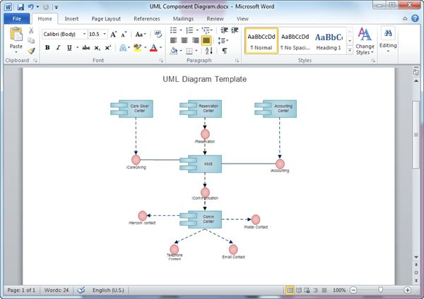 UML Diagram Templates for Word