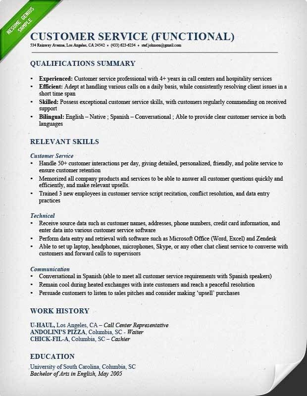 Resume Cover Letter Examples For Customer Service. Bank Customer ...