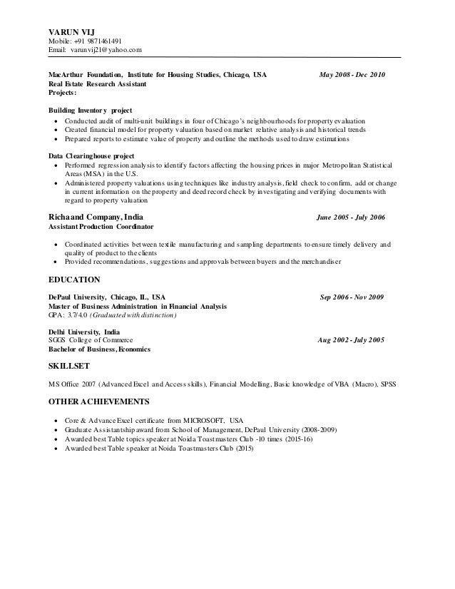 Varun Vij Resume