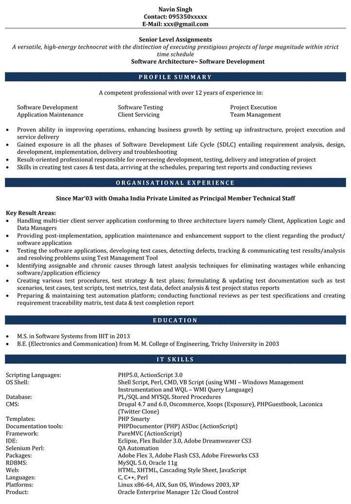 PHP Resume Sample | PHP Developer Resume | Sample Resume for PHP ...
