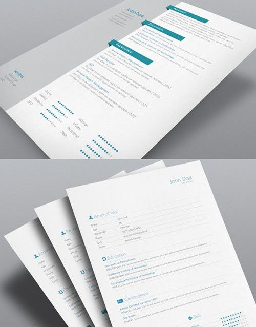 8 Sets of Free InDesign CV/Resume Templates | Free InDesign ...