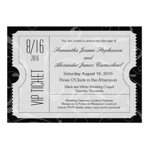 Personalized Vip ticket Invitations | CustomInvitations4U.com