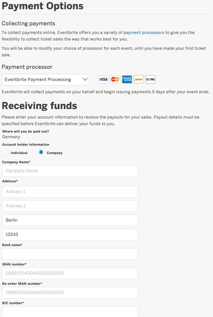 How to accept SOFORT Banking payments for your event | Eventbrite ...