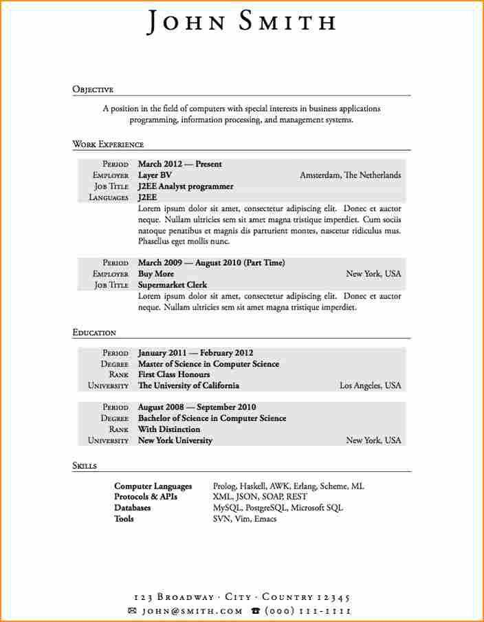 Computer Science Resume Template. Sample Computer Science Resume ...