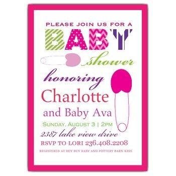 Sample Baby Shower Invite | PaperInvite
