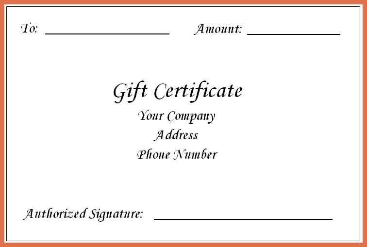 gift certificate template word | bio example