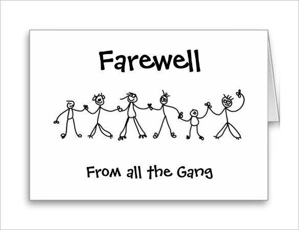 Farewell Card Template - 25+ Free Printable Word, PDF, PSD, EPS ...