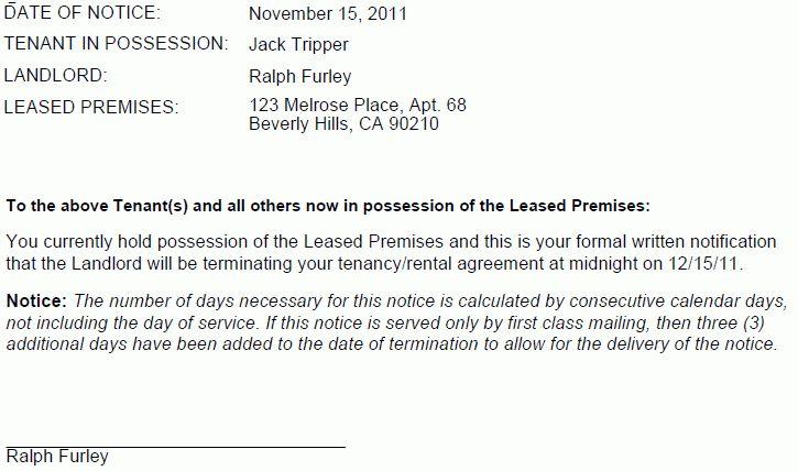 Oregon 30 Day Termination Notice-No Cause | EZ Landlord Forms