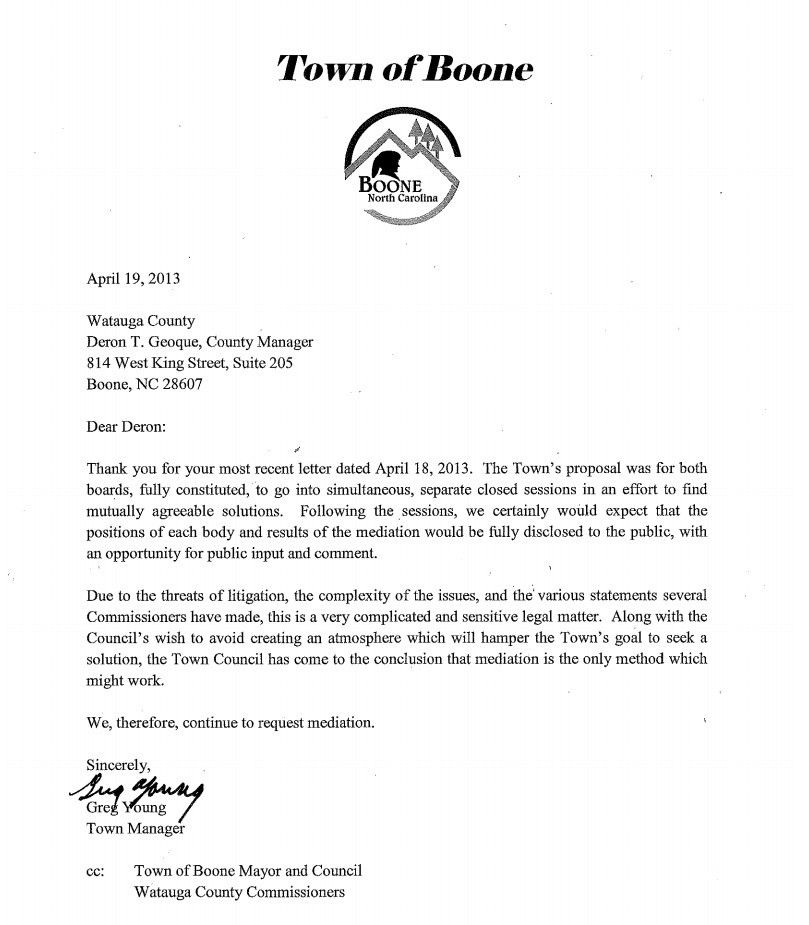 In Most Recent Letter, Town Manager Calls Sales Tax/WHS Sale 'Very ...