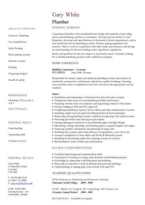 Construction CV template, job description, CV writing, building ...
