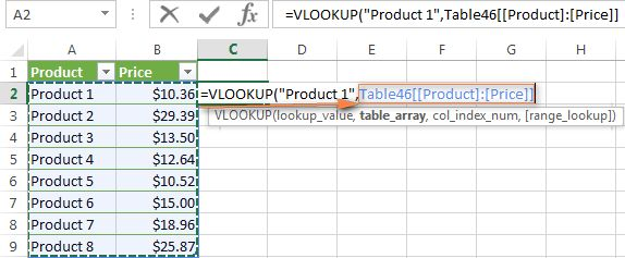 Excel VLOOKUP tutorial for beginners - formula examples