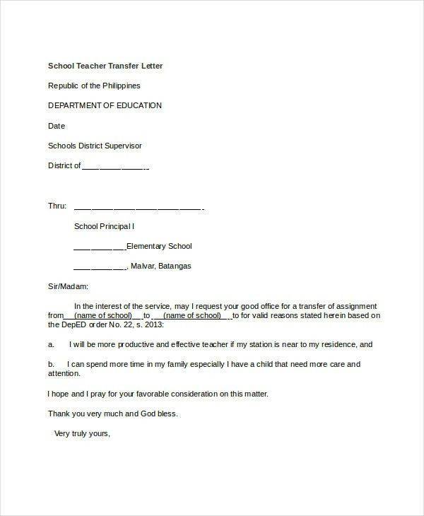 Application Letter For School Application Letter For School Branch ...